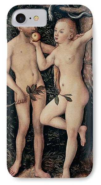 Adam And Eve Phone Case by Lucas Cranach Elder