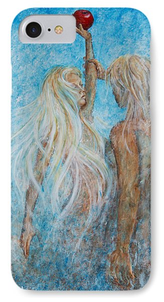 IPhone Case featuring the painting Adam And Eve  by Nik Helbig