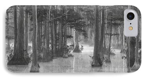 Adams Mill Pond 25 Bw IPhone Case