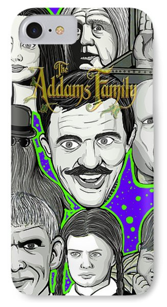 Addams Family Portrait Phone Case by Gary Niles