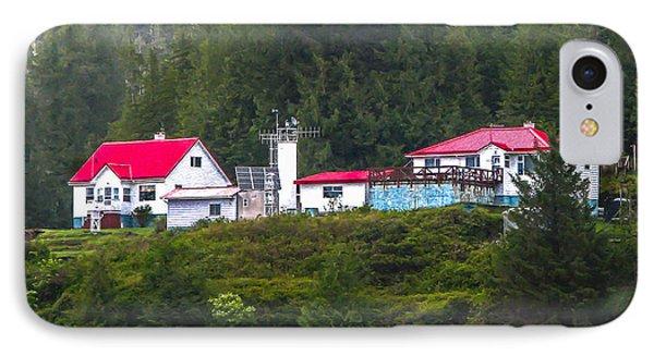 Addenbroke Island Lighthouse Phone Case by Robert Bales