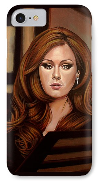 Rhythm And Blues iPhone 7 Case - Adele by Paul Meijering