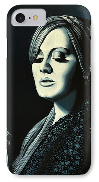 Adele Skyfall Painting IPhone 7 Case by Paul Meijering