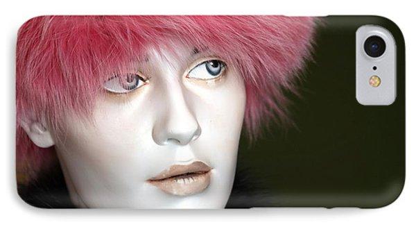 Adele's Pink Fur Hat IPhone Case by Sophie Vigneault