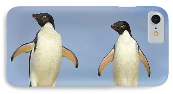 Adelie Penguin Duo IPhone 7 Case by Yva Momatiuk John Eastcott