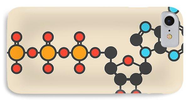 Adenosine Triphosphate Molecule IPhone Case by Molekuul