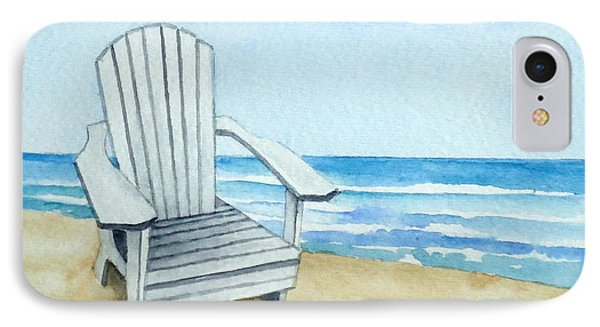 Adirondack Chair At The Beach IPhone Case