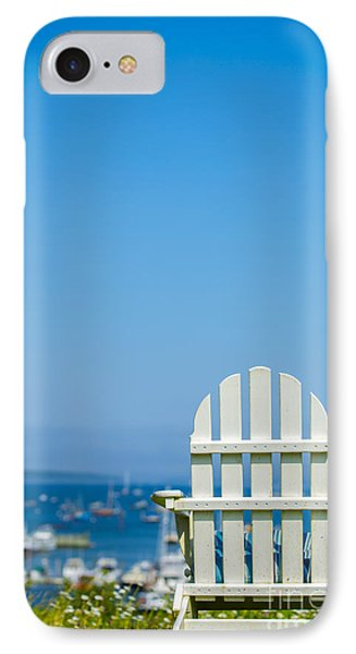 Adirondack Chair By The Sea IPhone Case by Diane Diederich
