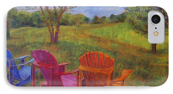 Adirondack Chairs In Leiper's Fork IPhone Case by Arthur Witulski