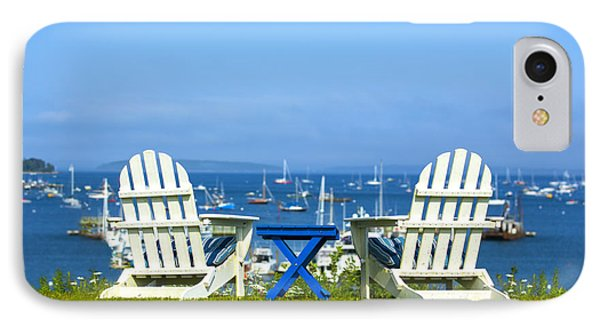 Adirondack Chairs Overlooking The Ocean IPhone Case by Diane Diederich