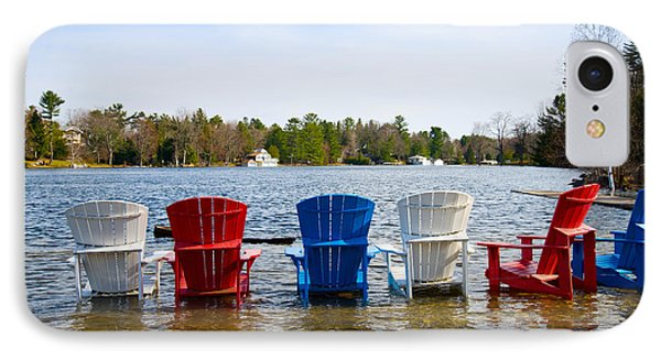 Adirondack Chairs Partially Submerged IPhone Case by Panoramic Images