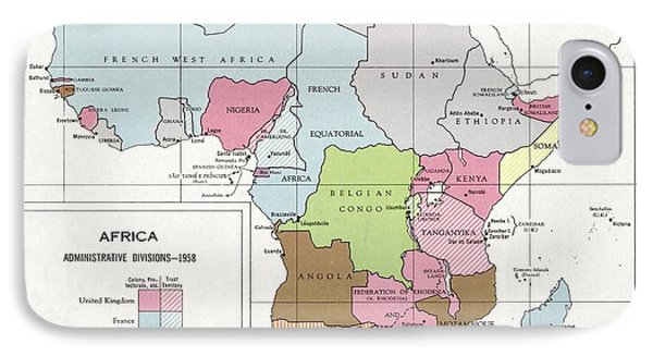 Administrative Divisions Of Africa IPhone Case by Library Of Congress, Geography And Map Division
