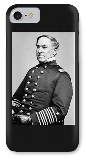 Admiral David Farragut Phone Case by War Is Hell Store