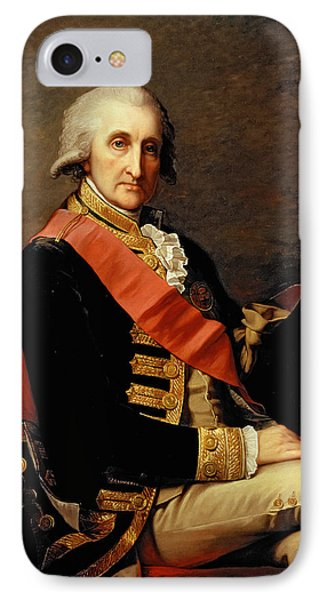 Admiral George Brydges Rodney IPhone Case by Jean Laurent Mosnier