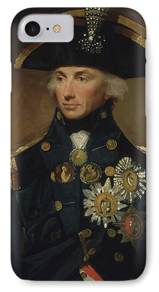 Admiral Horatio Nelson IPhone Case by War Is Hell Store