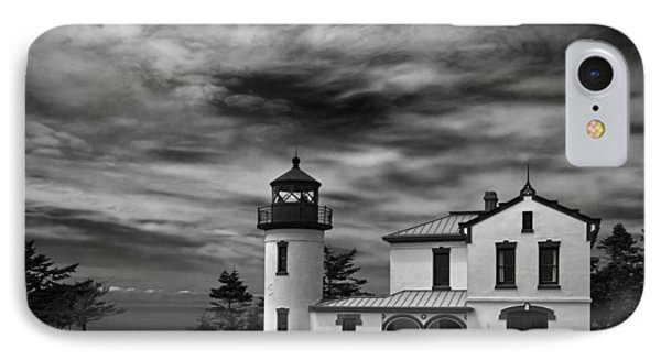 Admiralty Head Lighthouse Bw IPhone Case by Joan Carroll