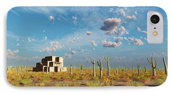 IPhone Case featuring the digital art Adobe House by Tim Fillingim