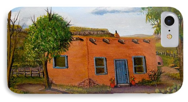Adobe On The Prairie IPhone Case by Sheri Keith