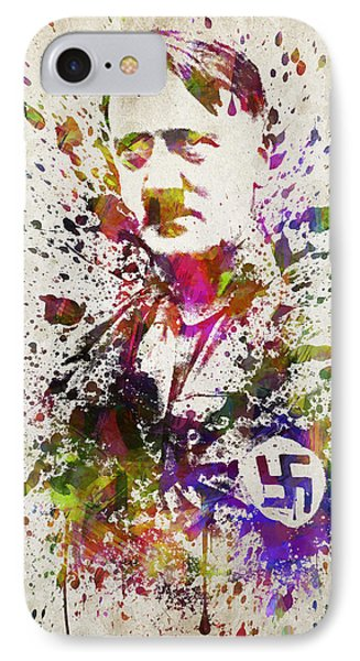 Adolf Hitler In Color IPhone Case by Aged Pixel