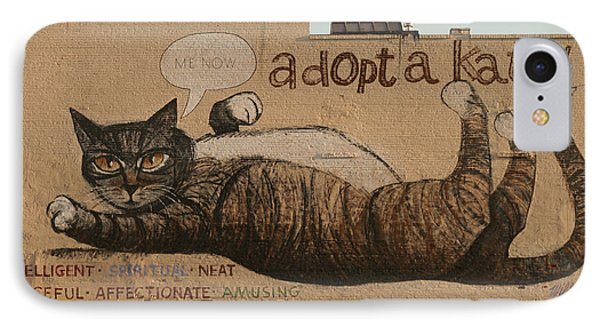 Adopt A Kat Or Me Now Phone Case by Blue Sky