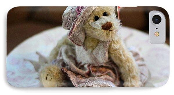 Adorable Little Teddy Bear IPhone Case by Kathy Eickenberg