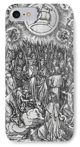 Adoration Of The Lamb IPhone Case by Albrecht Durer or Duerer