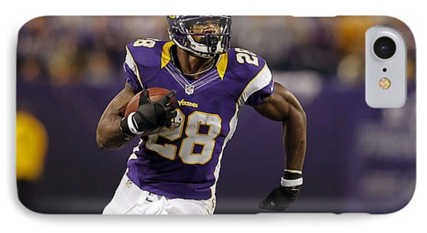 Adrian Peterson IPhone Case by Marvin Blaine