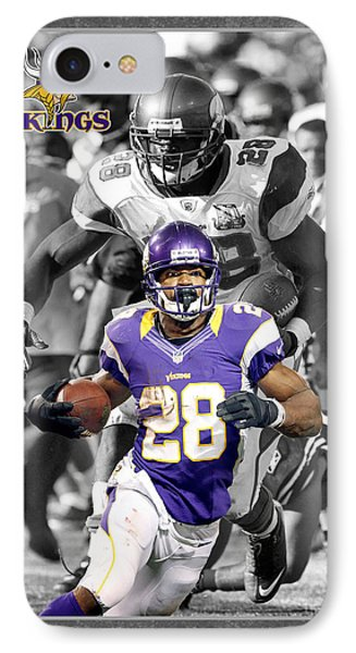 Adrian Peterson Vikings IPhone Case by Joe Hamilton