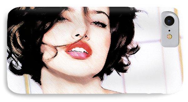 Adriana Lima IPhone Case by David Blank