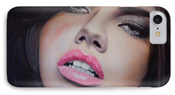 Adriana Lima Oil On Canvas IPhone Case