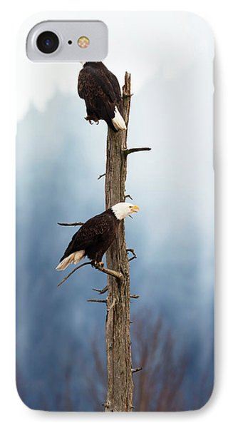 Adult Bald Eagles  Haliaeetus IPhone Case by Doug Lindstrand
