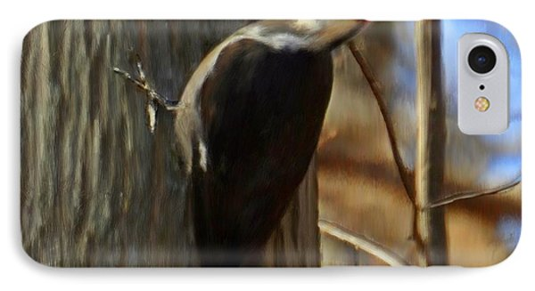 Adult Male Pileated Woodpecker IPhone Case by Bruce Nutting