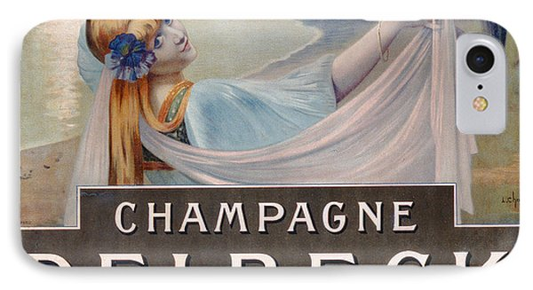 Advertisement For Champagne Delbeck Phone Case by Louis Chalon