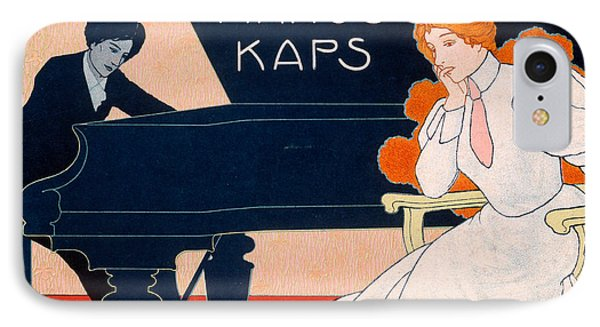 Advertisement For Kaps Pianos IPhone Case by Hans Pfaff
