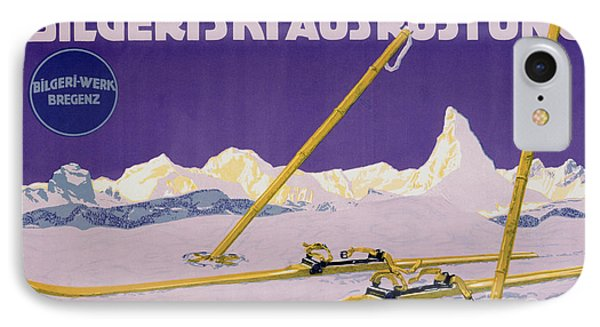 Advertisement For Skiing In Austria Phone Case by Carl Kunst