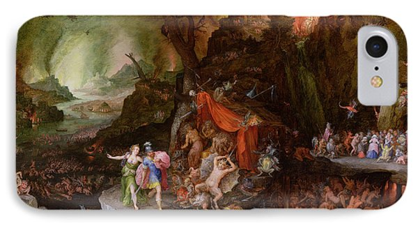 Aeneas And The Sibyl In The Underworld, 1598 Oil On Copper IPhone Case