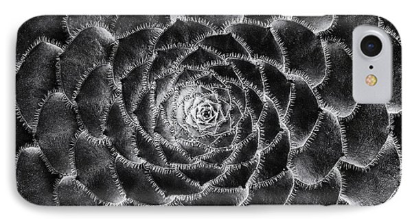 Aeonium Monochrome IPhone Case by Tim Gainey