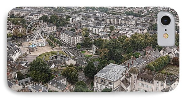 Aerial Chartres IPhone Case by Olivier Le Queinec