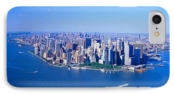 Aerial Lower Manhattan New York City Ny IPhone Case by Panoramic Images