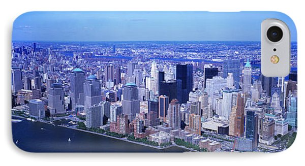 Aerial, Lower Manhattan, Nyc, New York IPhone Case by Panoramic Images