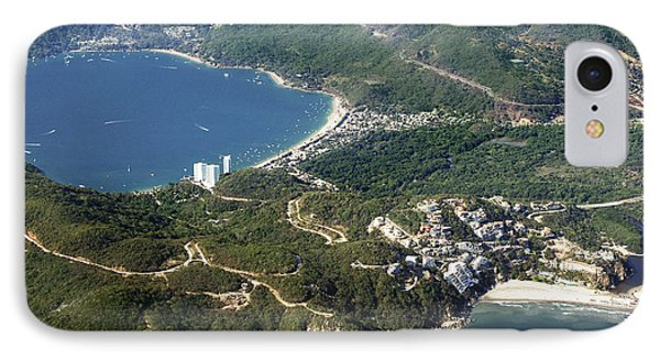 Aerial  Of Acapulco Bay Mexico From Both Sides IPhone Case