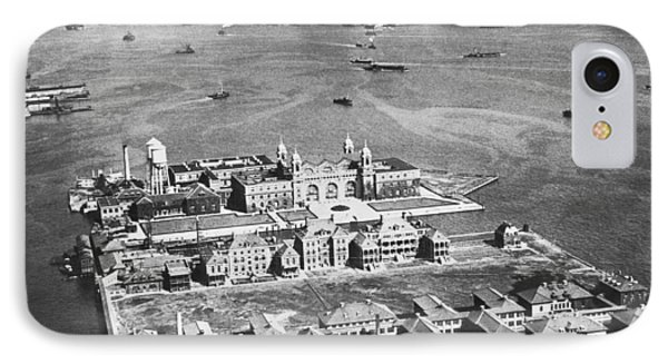 Aerial Of Ellis Island IPhone Case