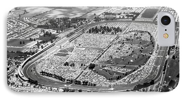 Aerial Of Indy 500 IPhone Case by Underwood Archives