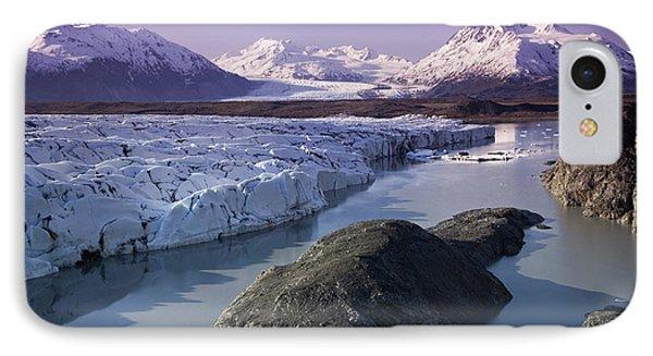 Aerial Of Knik & Colony Glacier IPhone Case by Jeff Schultz