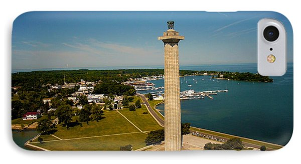 Aerial Perry's Monument  IPhone Case by Kevin Cable