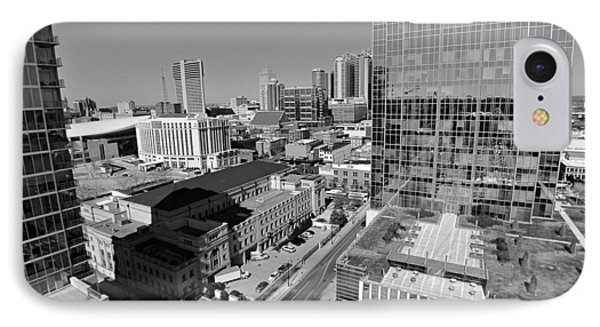 Aerial Photography Downtown Nashville Phone Case by Dan Sproul