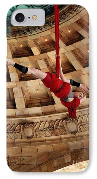 Aerial Ribbon Performer At Pennsylvanian Grand Rotunda Phone Case by Amy Cicconi
