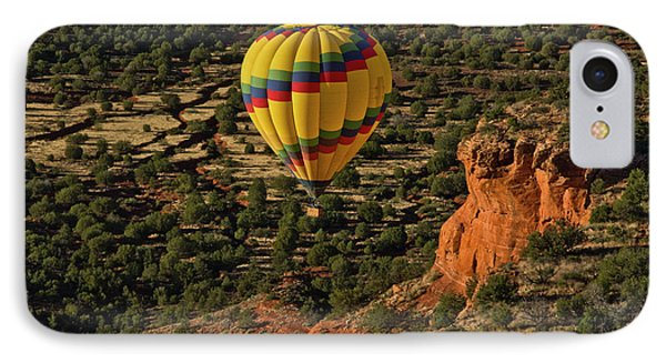 Aerial View, Doe Mesa, Red Rock IPhone Case by Michel Hersen