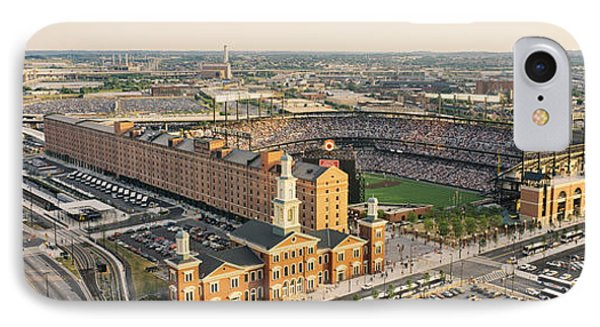 Aerial View Of A Baseball Stadium IPhone Case by Panoramic Images