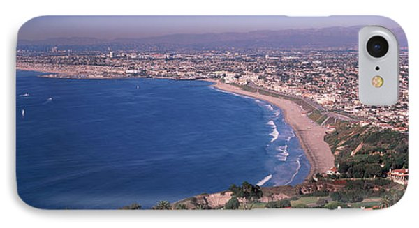 Beverly Hills iPhone 7 Case - Aerial View Of A City At Coast, Santa by Panoramic Images